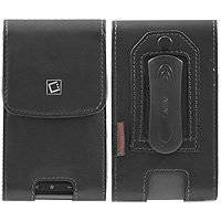 iPhone 5 Vertical Noble Black Leather Case with Fixed Belt Clip