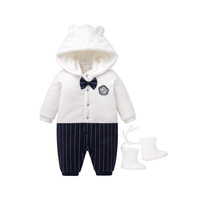 Wholesale Winter Clothes Plain Baby Long Sleeve Romper Corduroy Bodysuits for Toddlers
