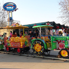 Wanle Theme Park Equipment Kiddie Ride Kids Track Train Gams Track Train Ride for Children