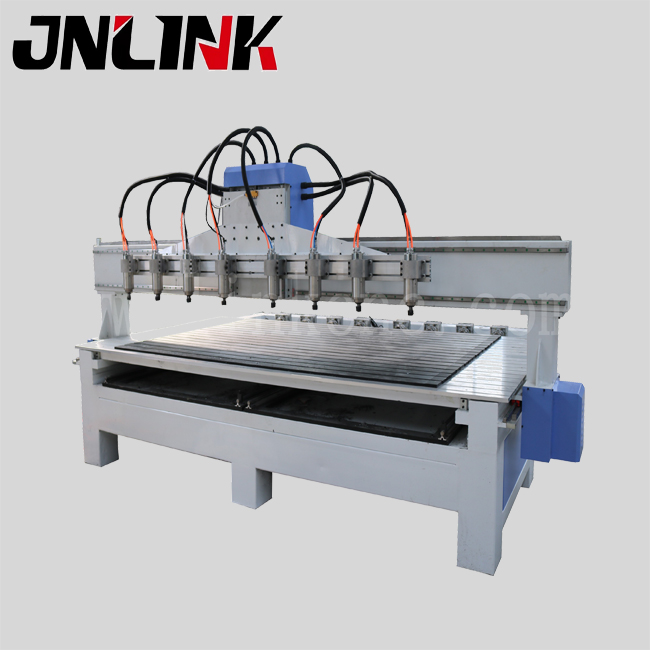 Multifunction 8 heads wood cnc router for rotary and flat wood/1300*2500mm working size/cnc router engraver machine