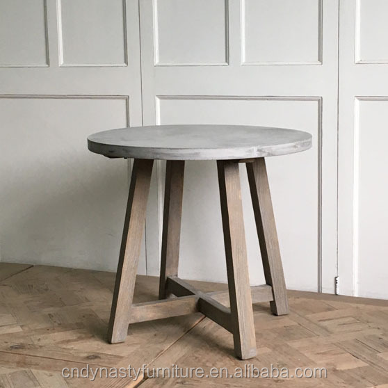 Hot Sale With Concrete Top Round Wooden Side Table Buy Side Table Round Side Table Wooden Side Table Product On Alibaba Com