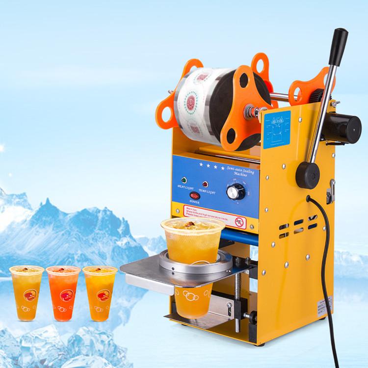 Yarı otomatik dondurma plastik bardak/kahve kağıt bardak/süt çay bardağı sızdırmazlık makinesi