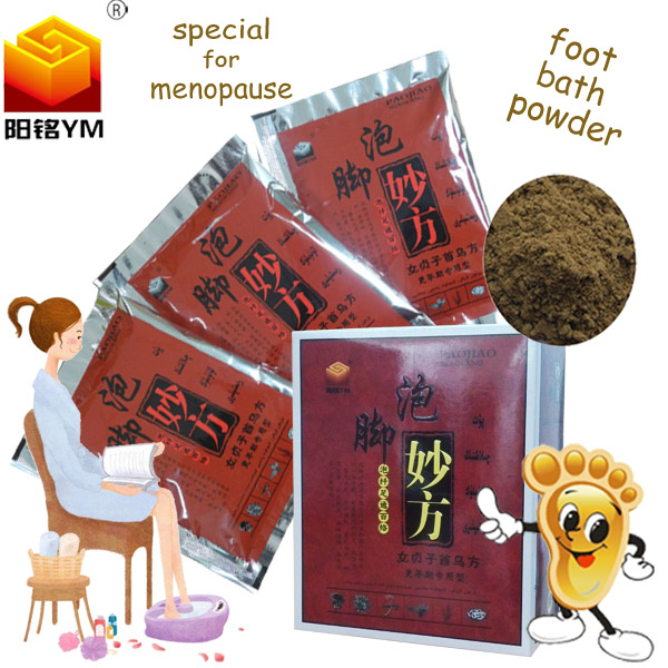 Chinese hot sale foot bath powder professional curing menopause pain relief