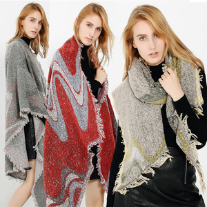 Cambodia Custom Printed Best Quality Top Elegant Ladies Black Color Shawls Scarf Classic Tippet Wraps Blanket