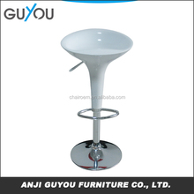 Best Selling Swivel Simple Style Modern Industrial ABS Plastic Bar Stool,Leather Bar Chair