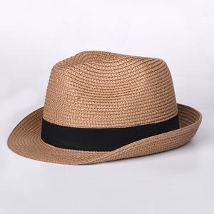55524ce3587 2019 Hot Sale Mens Natural Color Fedora Straw Hat
