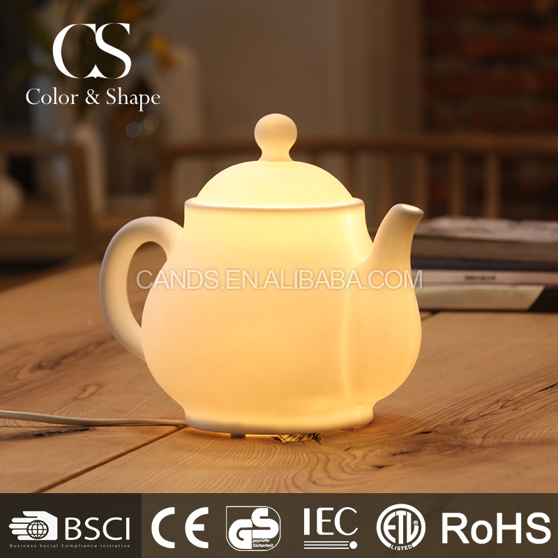 Modern chinese tea pot shape ceramic table lamp on promotion