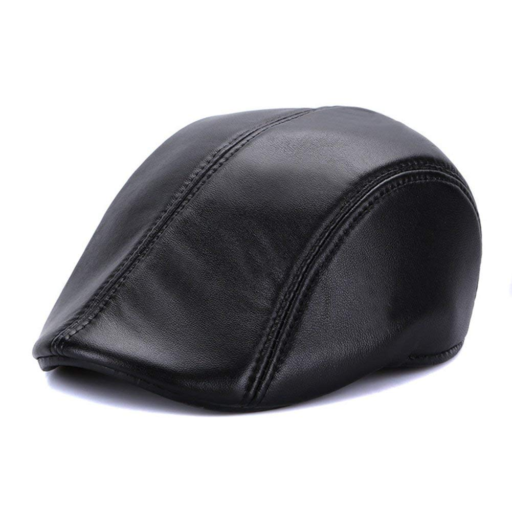 7062489ea40 Get Quotations · Sandy Ting Ivy Flat Cap Cabby Hat Leather Vintage Newsboy  Cap Driving Cap