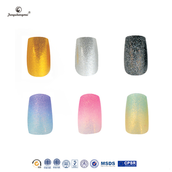 Fengshangmei Human Finger Nails For Whole Imported Abs Material Free Sample Nail Art Glitter Stiletto
