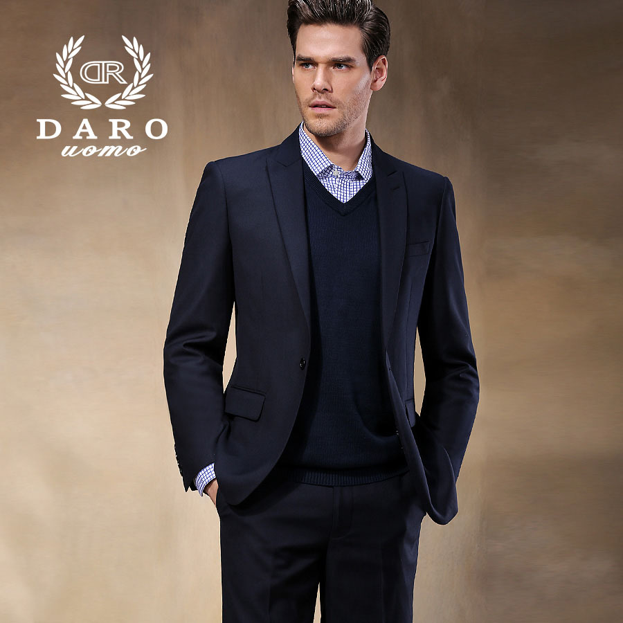 Brand DAROuomo 2016 Slim Men Suit Business Wedding Suits Blazer Fashion Men s Dress Single Breasted