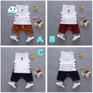 Newest Summer Casual Cotton Boy Clothing Sets Kids Clothes Sets