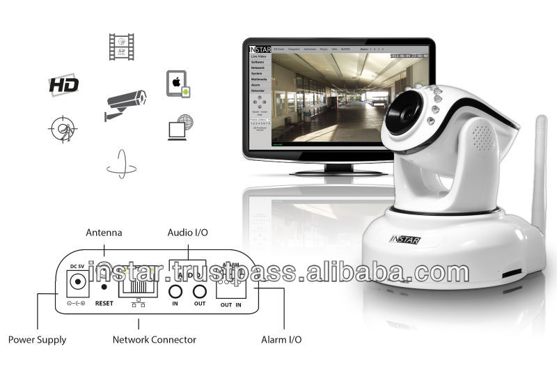 Hot Sale! IN-6012 Wireless plug and play digital camera HD indoor IP cam