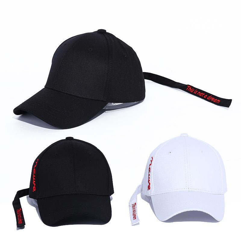 Yyun Plain Street Style Hat Women Men Long Strap Belt Snapback Baseball Cap  Curved Visor Hat 6d72e87ea32