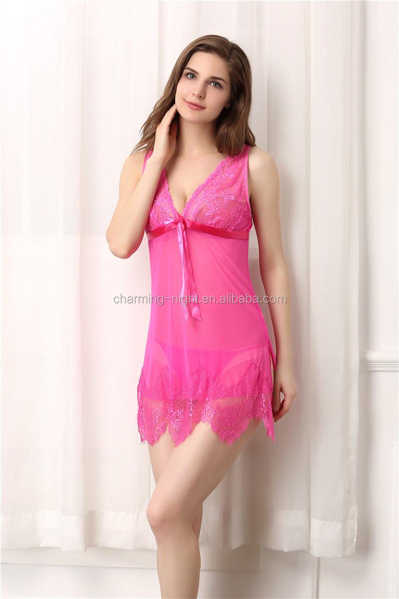 Charming Night Lingeries Women Underwear Adult Nylon Shiny ...