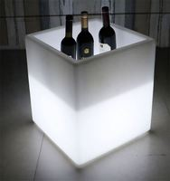 Restaurant OEM Wine Beer Custom Acrylic Ice Bucket LED Ice Storage Tank for Food