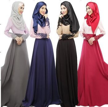Cheap turkish islamic clothing wholesale delicate cuff muslim dress jubah
