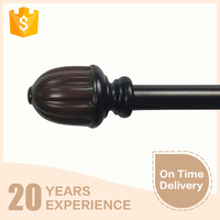 Wood curtain finial pole thickness 0.5mm supply