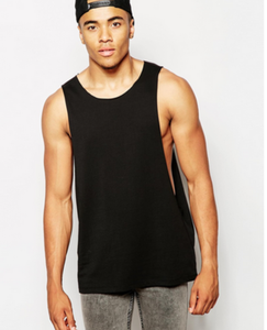 Wholesale custom gym singlets for men deep arm hole tank tops
