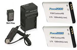 2 Batteries + Charger for ContourHD Contour+ Contour+2 Plus HD Helmet Camera