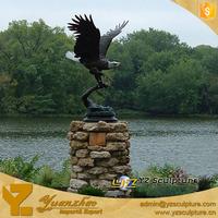 Outdoor Decoration Life Size Exclusive Bronze Eagle Sculpture