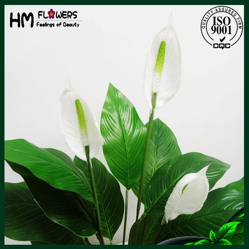 Artificial peace lily flower artificial flower pot buy artificial artificial peace lily flower artificial flower pot izmirmasajfo