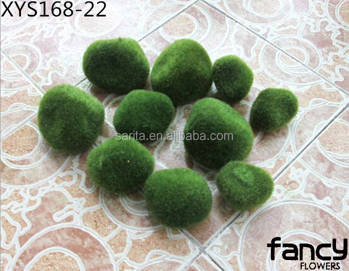 cheap wholesale artificial moss ball for decoration