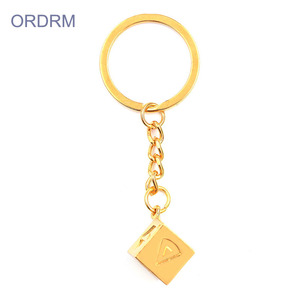 Wholesale Custom Zinc Alloy Gold Plated Han Solo Dice Keychain