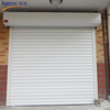 Aluminum roll up door opener glass garage door factory price with motor