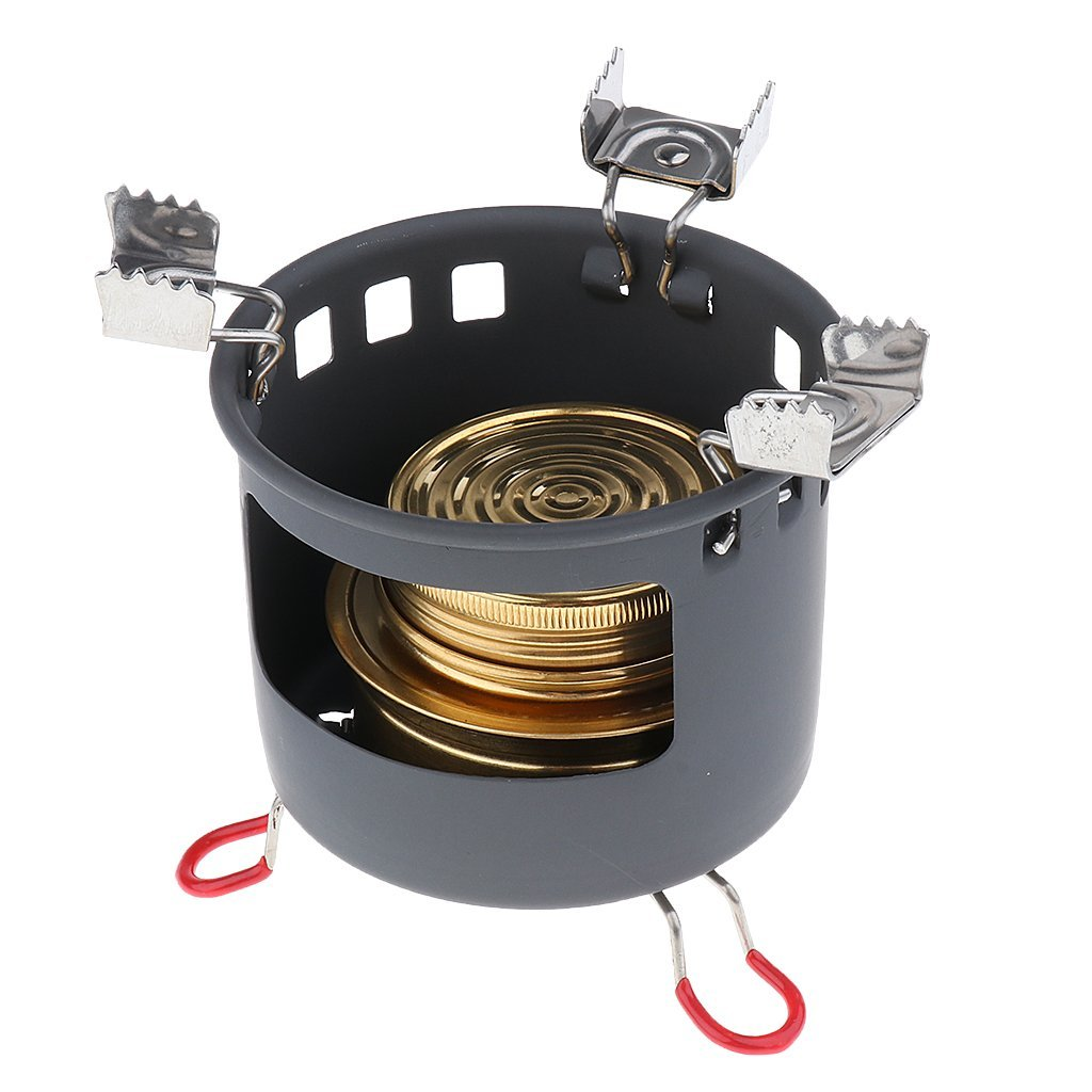 Alcohol Stove Fuel Emergency Survival Outdoor Hike Windproof Cooking Burner 6A