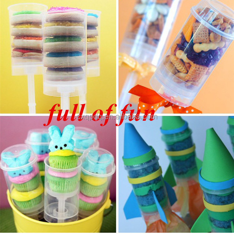 hot sell pp plastic food grade clean ice cream cupcake push pop containers