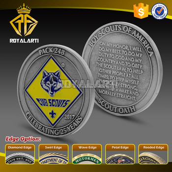 Cheap Custom Antique Silver Challenge Coin For Cub Scouts - Buy Custom  Antique Silver Challenge Coin,Challenge Coin,Challenge Coin For Cub Scouts