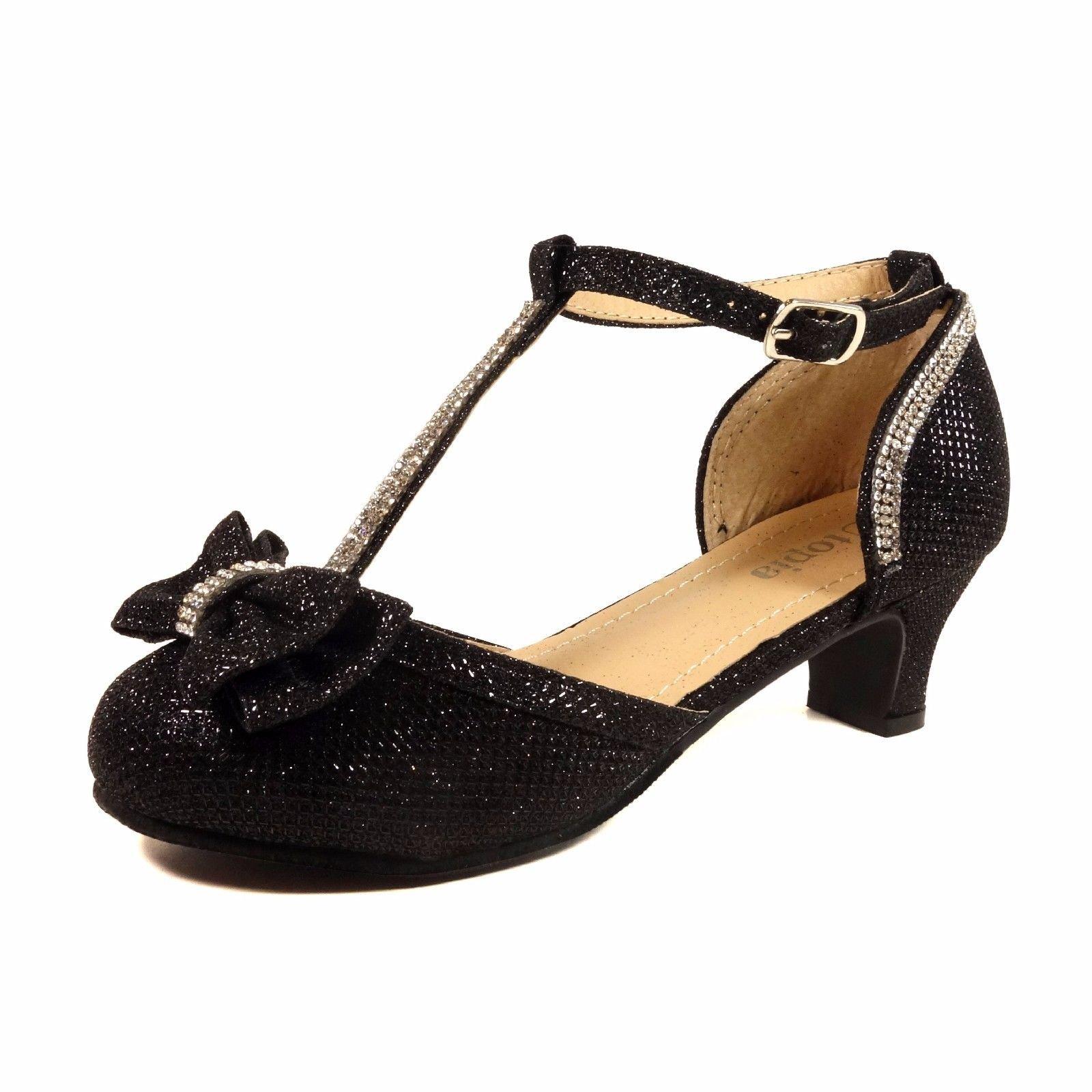 02a608035b5d11 Get Quotations · Nova Utopia Toddler Little Girls Low Medium Heel Dress Sandal  Flower Girl Shoes (Size 9