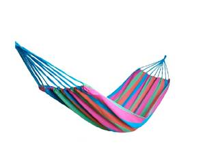 Shopready Portable Colorful Striped Durable Travel Camping Recreation Indoor Outdoor Garden Beach Tying High-density Heavy Duty Thick Canvas Folding Swing Bed Hammock - Purple Grid