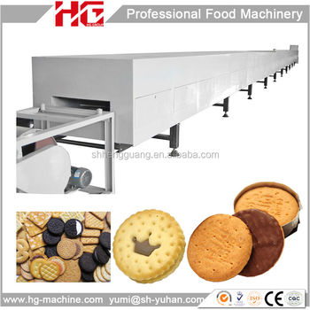 Facile de programmation de la machine industrielle Oreo biscuit ligne de production / biscuit ligne de production de prix / gaufrette ligne de production