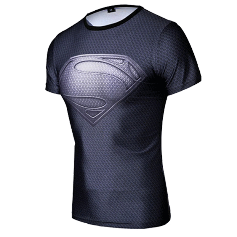 Free shipping Summer Style 2015 New Men's Outdoor Quick Drying Casual T Shirt Men Tee Shirt Fashion Sport Captain Man of Steel