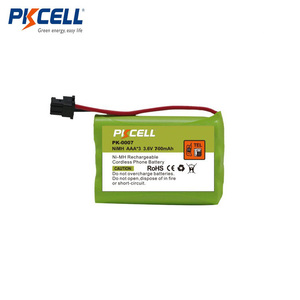 PK-0007 NI-MH AAA 700mAh 3.6V Nickel Metal Hydride Battery Pack With Cordless Phone Rechargeable Batteries