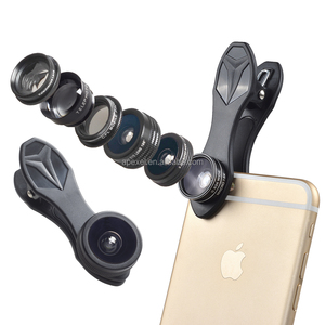 android phone accessories 2017 camera lens external camera 198 fisheye wide angle zoom 7in1 lens kit