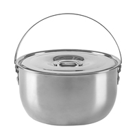 High quality 304 stainless steel outdoor camping pot cookware