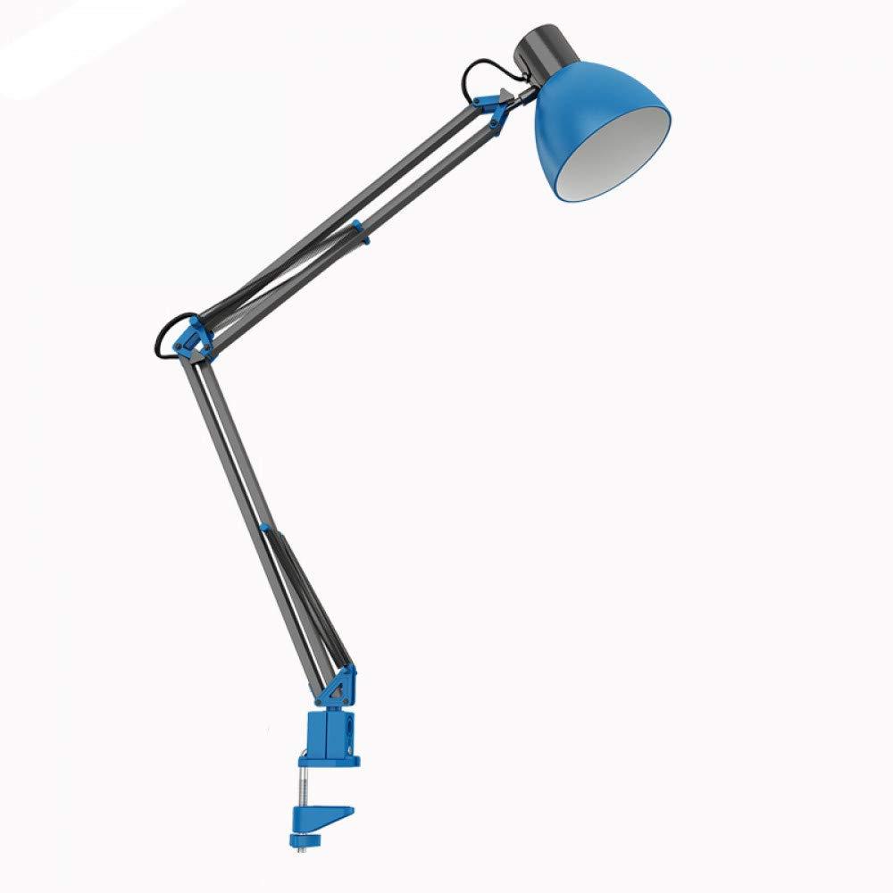 XingYao Clip Desk Lamp Flexible Long Swing Arm Led Desk Lamp 6W Eye-Care Led Table Lamp Multi-Joint Led Reading Light,Blue