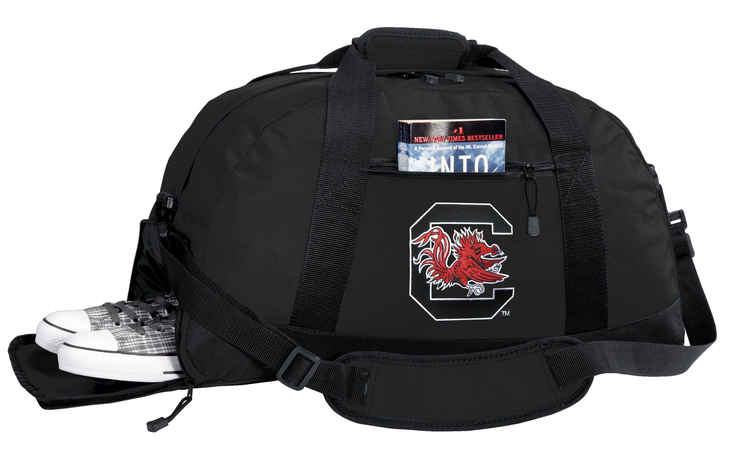 NCAA University of South Carolina Duffel Bag - South Carolina Gamecocks Gym Bags w/ SHOE POCKET