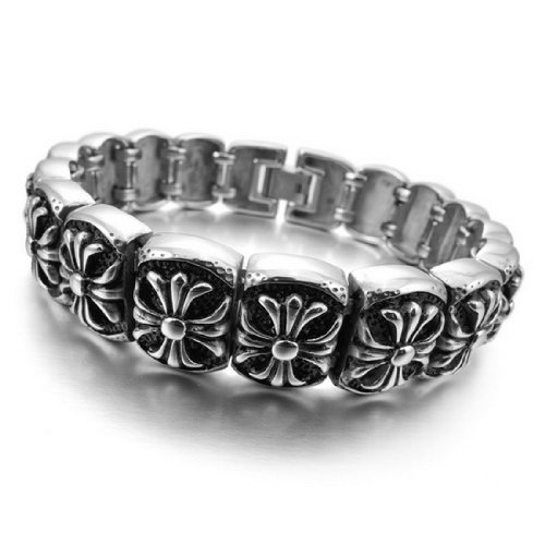 New Arrival Hot Sale Fashion Chic Gothic & All-Purpose Style Cross Bradge Bracelets Made By Stainless Steel With Length 8.46inch