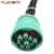 Green J1939 9 Pin Deutsch Connector Cable to Female OBD2 Diagnostic Cable