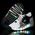 2016 LED light heelys children Breathable mesh Black shoes sneakers with wheels kids roller skates shoes