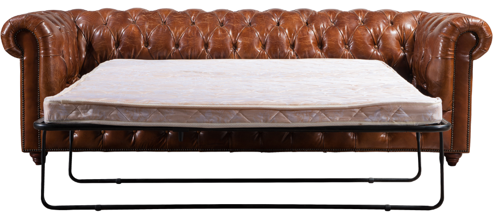 Divano Letto Vintage.Antique Chesterfield Vintage Leather Folding Sofa Bed Buy
