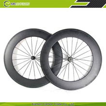 roue de velo de route tubular 88mm ruote in carbonio no brand 23mm wide china carbon wheels