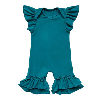 6e3da9b6c92 Wholesale Plain Baby Girl Flutter Sleeves Bubble Rompers - Buy ...