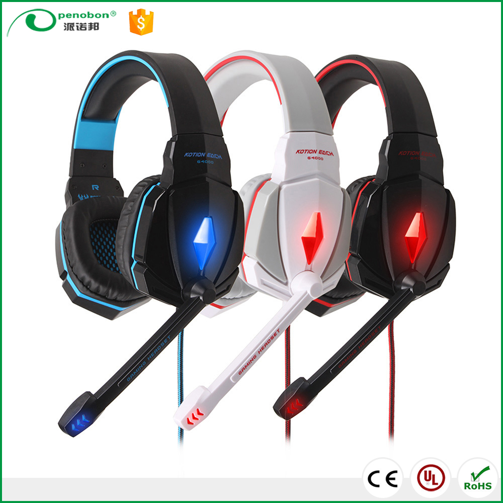 KOTION EACH G4000 Stereo Gaming Headphone Headset Headband with Mic Volume Control for PC Game