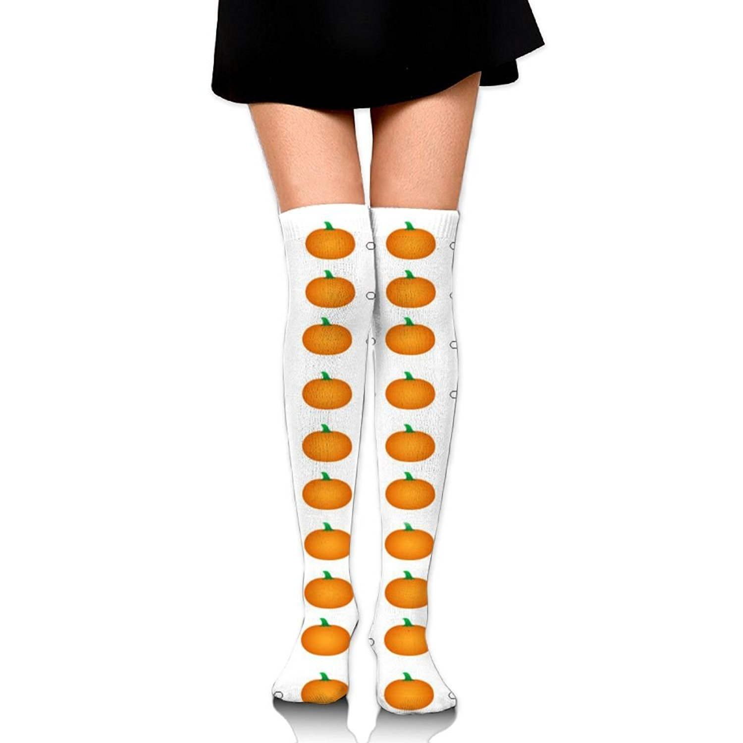 Zaqxsw Pumpkin Vegetables Women Vintage Thigh High Socks Long Socks For Girls