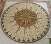 China pure hand make carved roman mosaic medallion for wall and floor