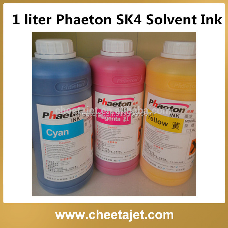 Glossy environmental phaeton sk4 solvent inkjet ink for phaeton ud-3276e ud-3208q for outdoor flex banner printing
